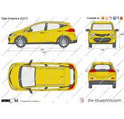 The Blueprintscom  Vector Drawing Opel Ampera E