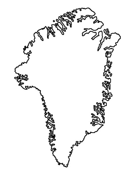 greenland map coloring page greenland pattern use the printable outline for crafts