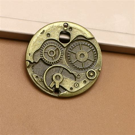Padlock Charms Zinc Alloy Antique Bronze zinc alloy charm connector clock antique bronze color