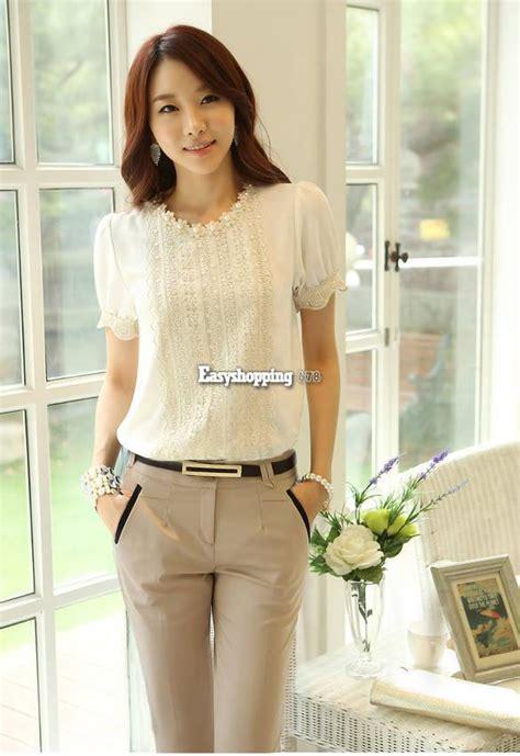 Adia Blouse Ori Sv new korean fashion womens sleeve casual lace shirt chiffon blouse tops es9