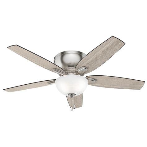 52 brushed nickel ceiling fan oberlin 52 in led indoor brushed nickel ceiling