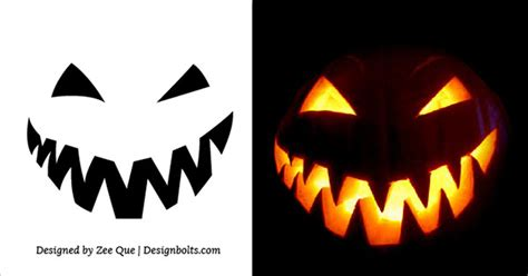 Ou Pumpkin Carving Templates by Scary Simple Pumpkin Carving Stencil For