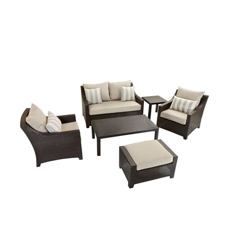rst brands deco 6 patio seating set with slate grey