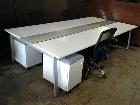 teknion benching used office cubicles white teknion benching station at
