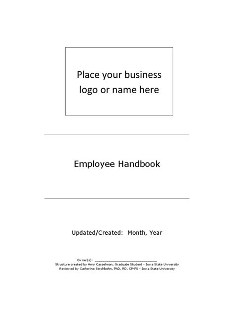 kitchen manual template employee handbook template kitchen employment
