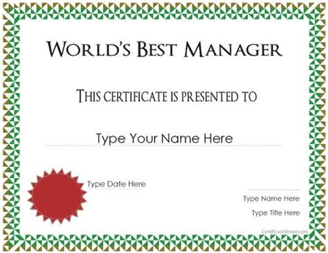manager of the month certificate template special certificate best manager award
