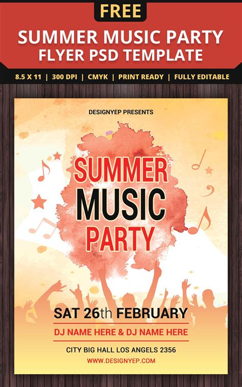template flyer free party free flyer templates psd from 2016 187 css author