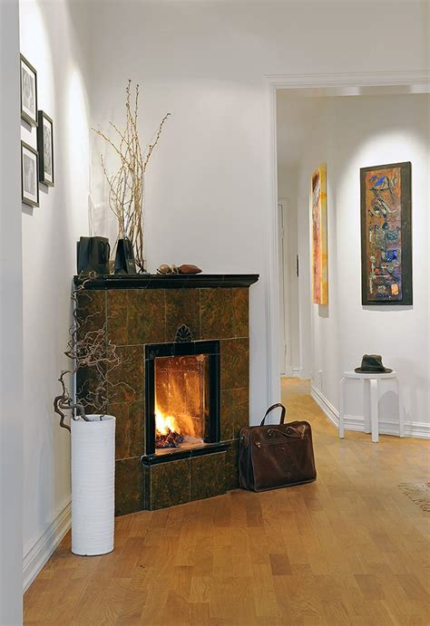 decorating a corner fireplace home garden design