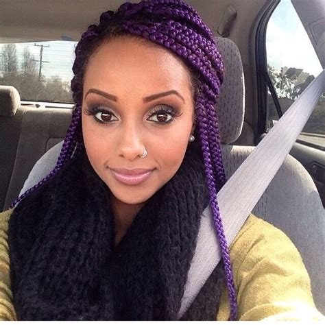 box braids on dark skin people striking 25 purple braids on dark skin new natural