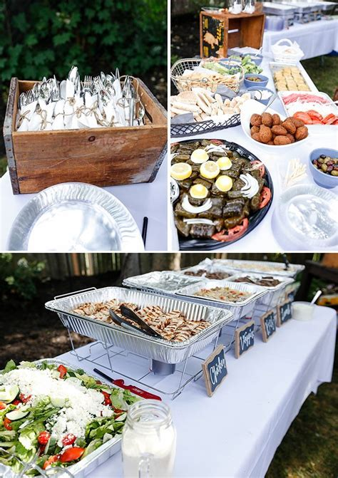 diy backyard wedding food ideas our backyard engagement s clean kitchen