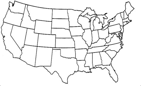 map of lower usa blank diagram of united states blank free engine image