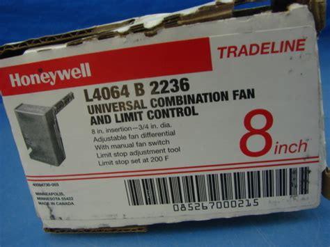 honeywell fan limit control new honeywell l4064 b 2236 8 quot universal combination fan