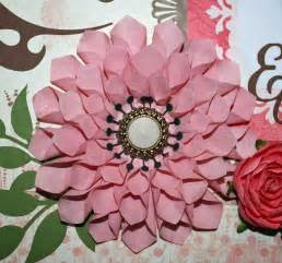 Flowers Made Out Of Book Pages - ideas for scrapbookers a handmade dahlia for your pages