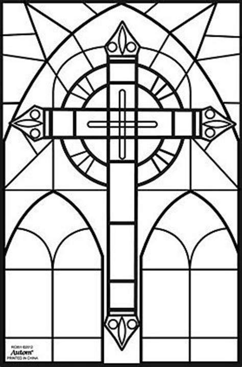 coloring pages of stained glass patterns stained glass cross coloring pages how to find stained