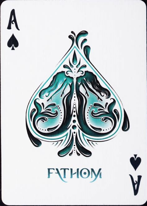 P Drawing An Ace From A Fair Deck Of Cards by Fathom Deck Cards Decks