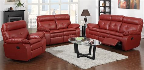 red leather reclining loveseat g570a reclining sofa loveseat in red bonded leather by glory