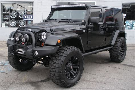 Jeep Wrangler Rubicon Accessories 2013 Custom Black Jeep Wrangler Unlimited Rubicon For Sale