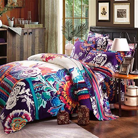 boho queen bedding fadfay 4 piece bohemian bedding boho bedding set full