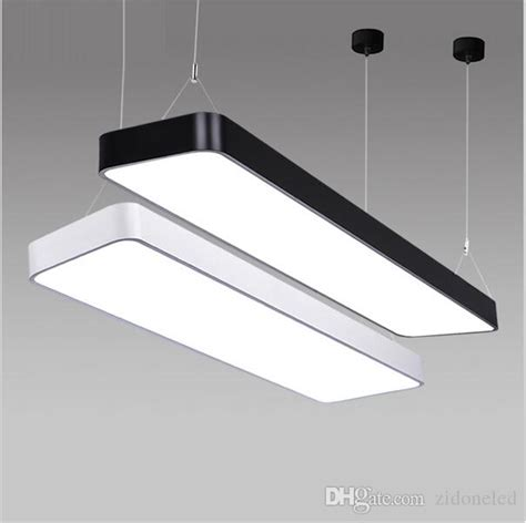 led office ceiling lights classroom office modern led ceiling pendant l rectangle