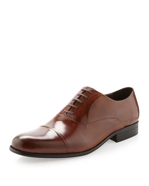 cognac oxford shoes kenneth cole chief executive oxford shoe cognac in brown