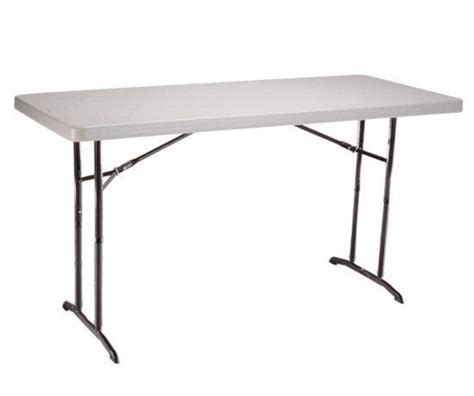 6 ft adjustable height table lifetime 6 ft commercial adjustable height folding table