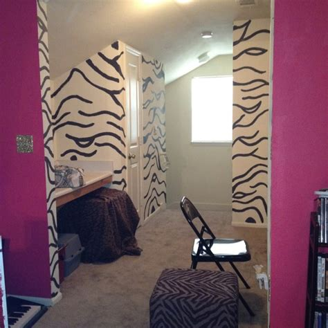 stick things to wall zebra print walls s room i