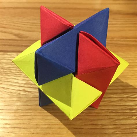Folding Paper Puzzle - origami burr puzzle froy folded by ez origami