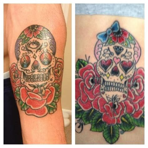 his and hers skull tattoos 30 best images about mrs foot his n hers skulls