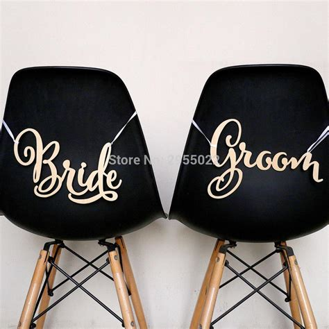 and groom chair signs ireland and groom chair signs boho wedding decoration wood