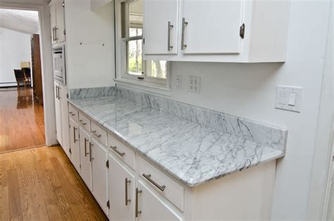 Floor Vases Home Decor by White Carrara Marble Kitchen Traditional Kitchen Dc