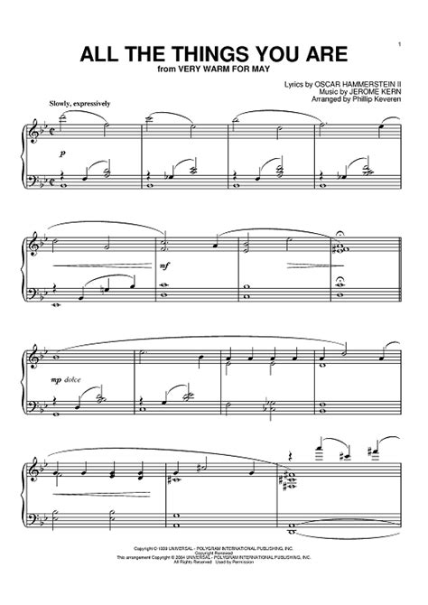 all the things you are sheet for piano and more