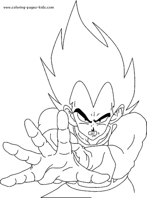 Dragon Ball Z Color Page Cartoon Color Pages Printable Coloring Pages Of Z Characters