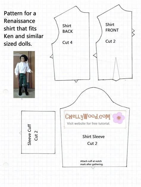 shirt pattern for ken doll free printable ken doll clothes patterns google search