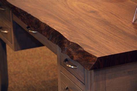 live edge writing desk walnut live edge writing desk country furniture