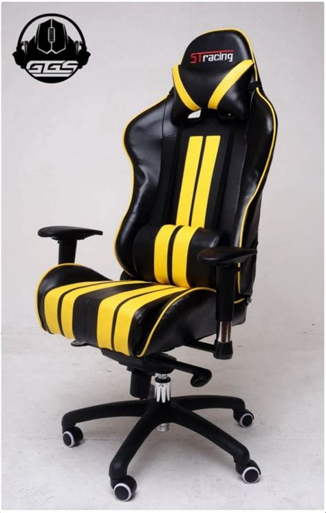 Jual Kursi Gaming Second jual stracing gaming chair yellow classic kursi gaming