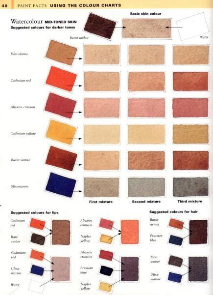 skin tone colour charts wetcanvas