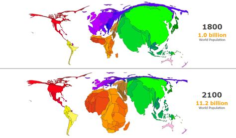 world population  fall  asia   rise  africa