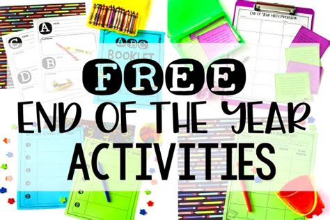 Free End Of The Year Activities For 4th And 5th Grade
