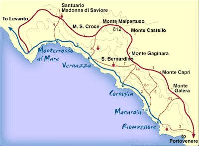 Cinque Terre Italy Map by Cinque Terre Italy Map