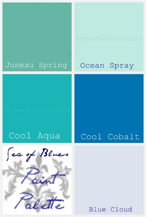 ocean blue paint color palette of the week sea of blues around the