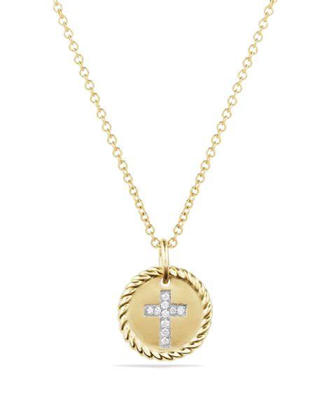 david yurman cable collectibles cross necklace with