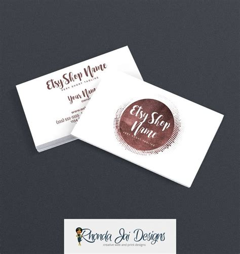 business card template etsy 57 best etsy business cards images on business