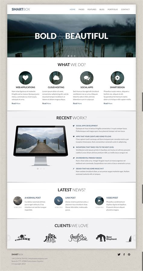 bootstrap themes themeforest smartbox responsive bootstrap html template by oxygenna
