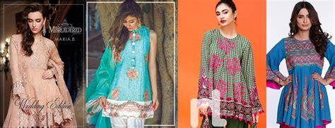 Latest Pakistani Fashion 2018 19: Medium Shirts with Cigarette Pants