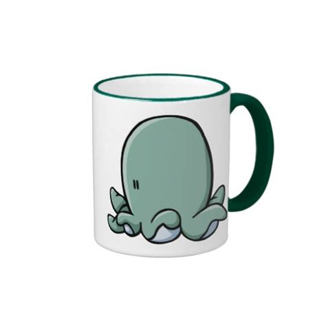 cartoon coffee mug cartoon octopus ringer coffee mug zazzle