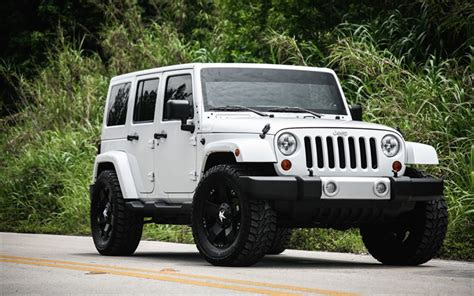 suv jeep black wallpapers jeep wrangler white suv black wheels