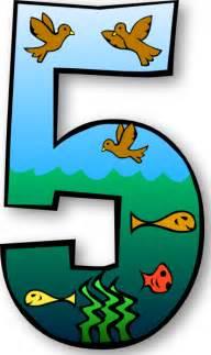 Creation days numbers 5 clip art at clker com vector clip art online