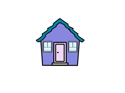 image of a house clipart house purple