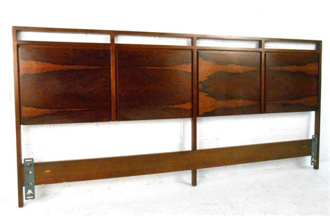 modern king headboard mid century modern rosewood king size headboard by paul