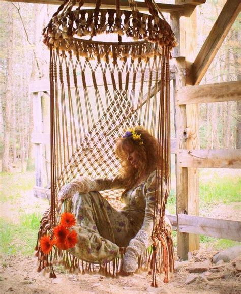 hippy hammock macrame chair bohemian living macrame hanging swing chair bohemian hippie lifestyle